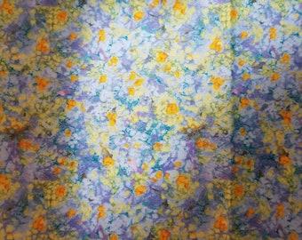 "Quilting Fabric -- ""Here Comes the Sun"" -- RJR Fabrics 2004 -- pretty spring print -- full yard"