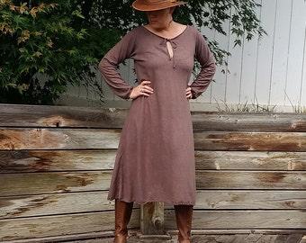 Wildwood peasant midi dress (hemp/organic cotton)