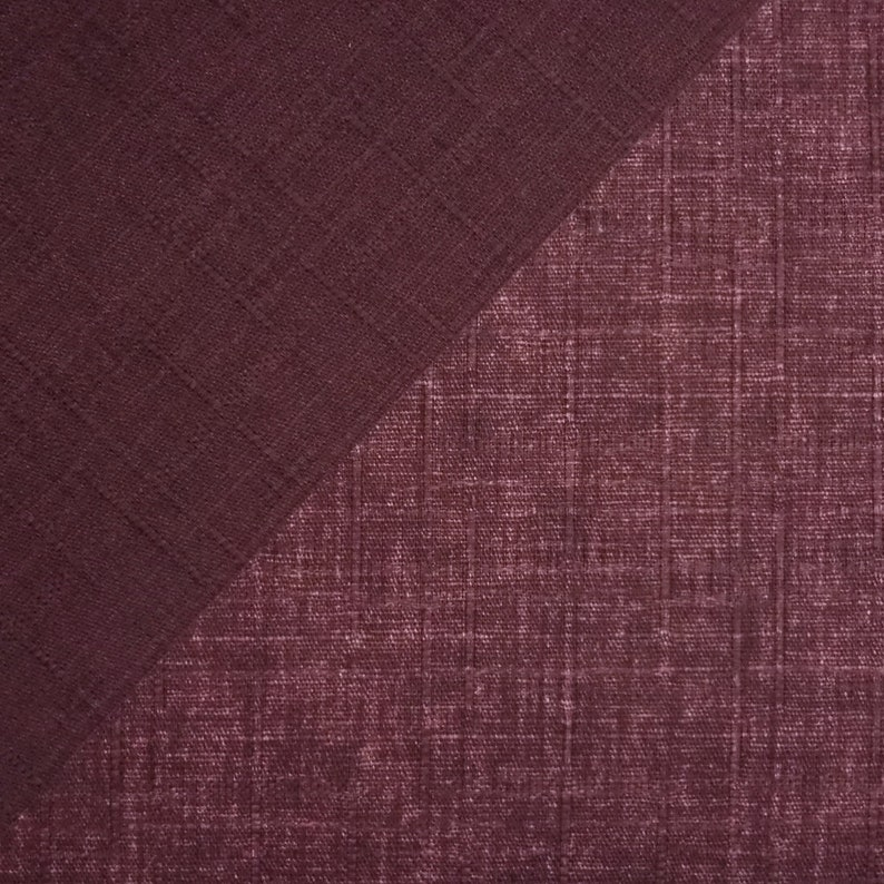 Japanese Dobby Cloth 12 yard of reversible plum solid