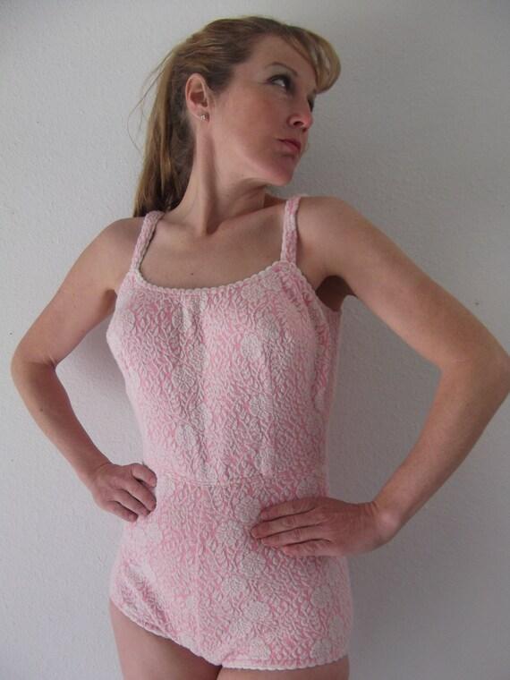 vintage 50s bathing suit - Catalina Swim Suit - Sm