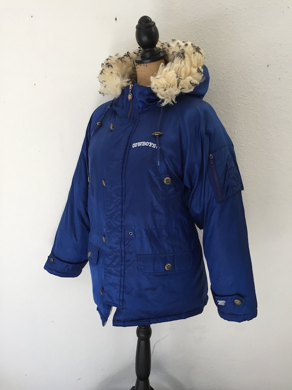 finest selection 18e83 93b18 Vintage Dallas Cowboys Winter Jacket NFL -Triple Fat Goose - Puffer Jacket  with Hood