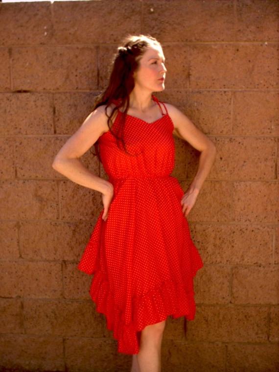 vintage red rockabilly dress