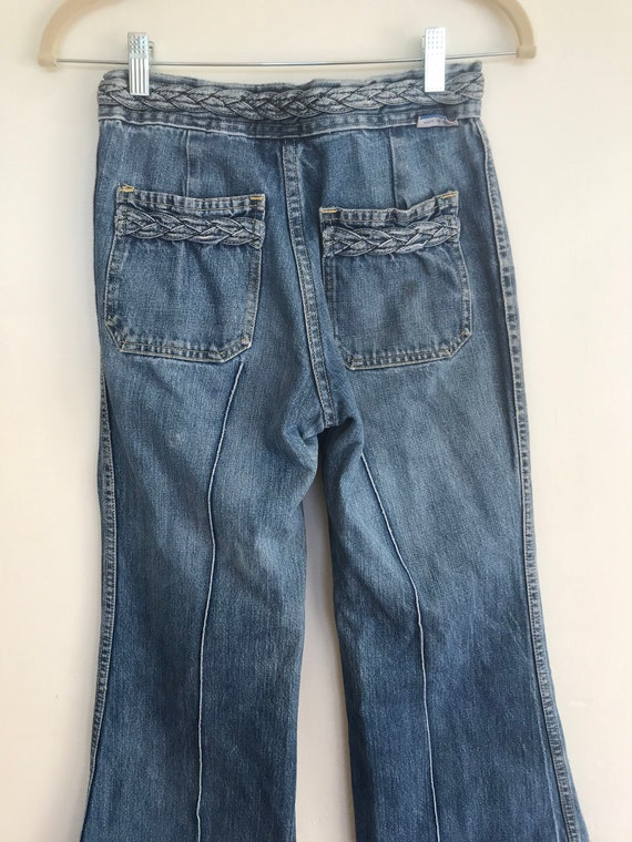 1970s Bottoms Up Bell Bottom Jeans