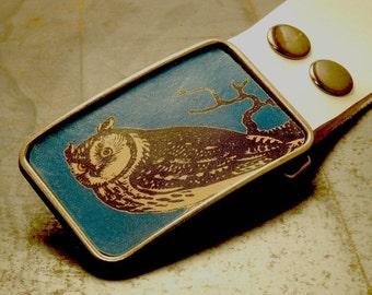 Owl belt buckle, The night bound