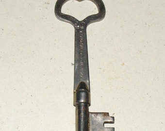 Antique Metal Ornate Heart top Skeleton Key