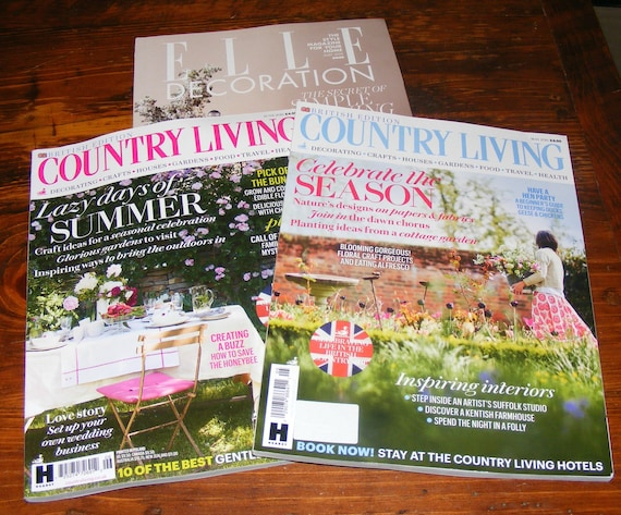British Country Living May 2018 And June 2018 Elle Decoration | Etsy