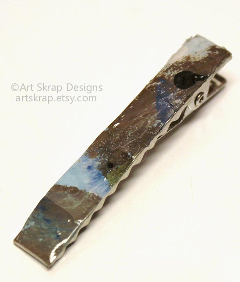Recycled Paint Abstract Men/'s Fashion Handmade Tie Clip Tie Clip Multicolored Tie Clip Men/'s Clothing Accessories Gifts for Men,