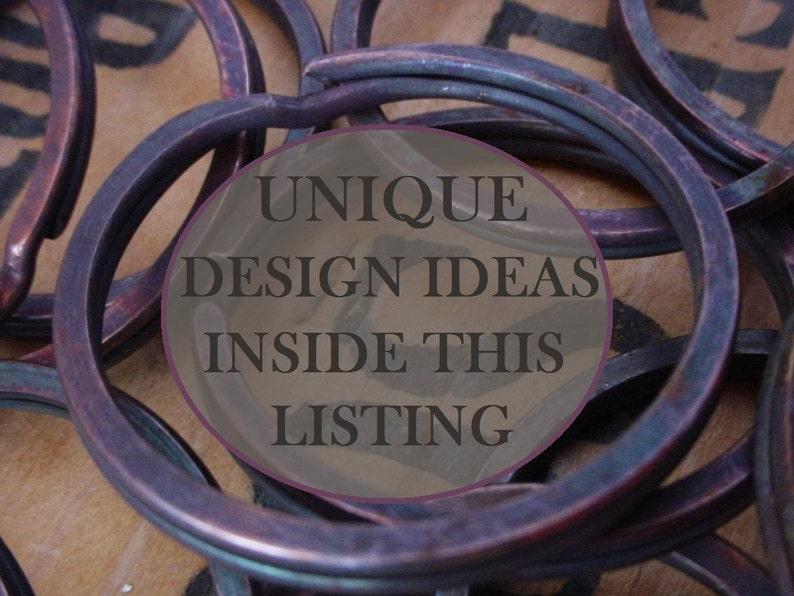 Lot Vintage 39mm Round 1 1/2 Inch O Ring Huge Split Ring Key image 0