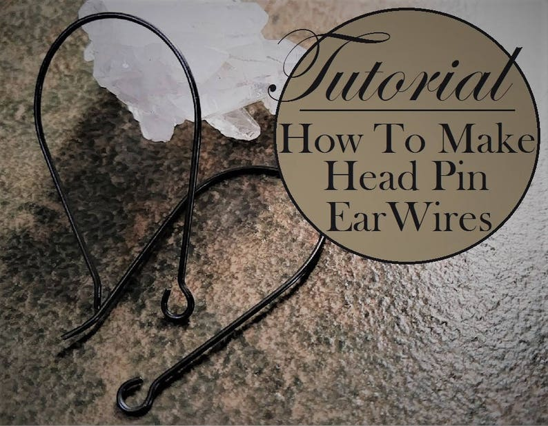 Free Tutorial How To Make Head Pin Ear Wires Vintage Brass image 0