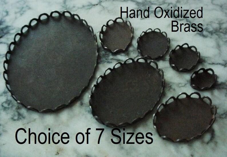 Size Choice Lace Edge Bezel Setting 8/6 10/8 12/10 14/10 18/13 image 0