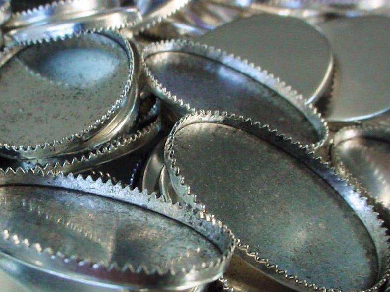 Destash Lot Vintage 25/18 mm Genuine Sterling Silver Plt image 0