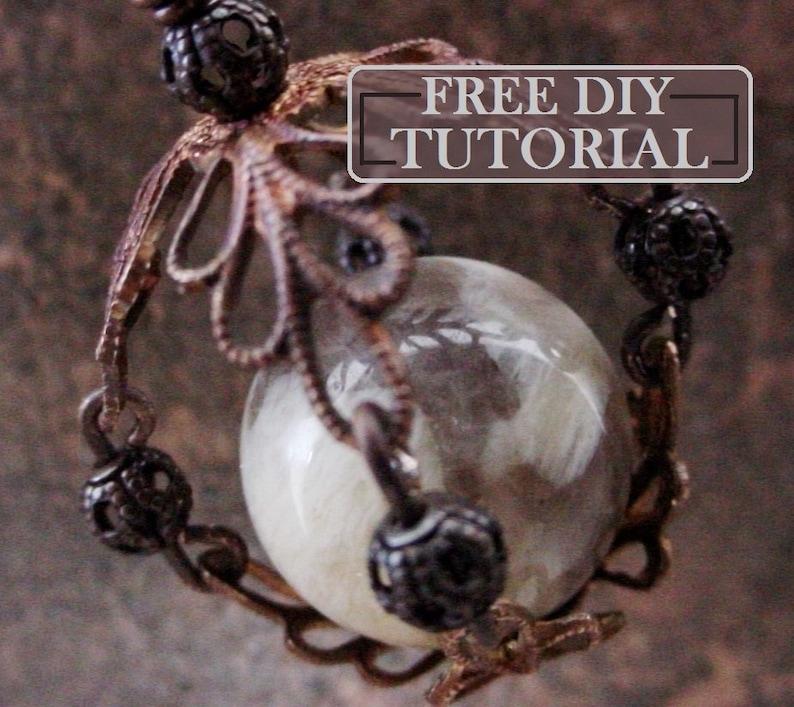 DIY KIT Free Tutorial How To Make Filigree Bead Cap Cage 14 16 image 0