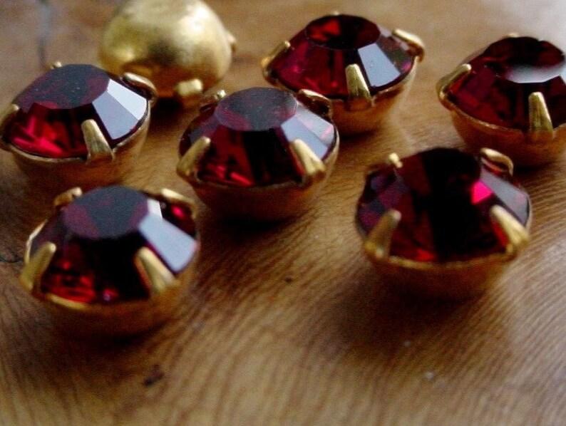 12pc Vintage 29ss Swarovski Crystal RARE Real Ruby image 0