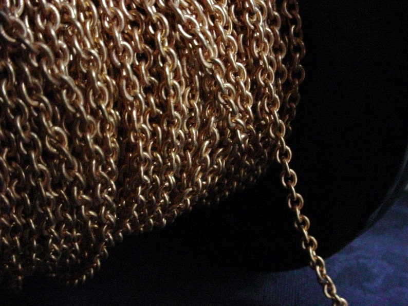 Quality 3 Ft Vintage Solid Brass Avon Rose 4mm x 5mm Cable image 0