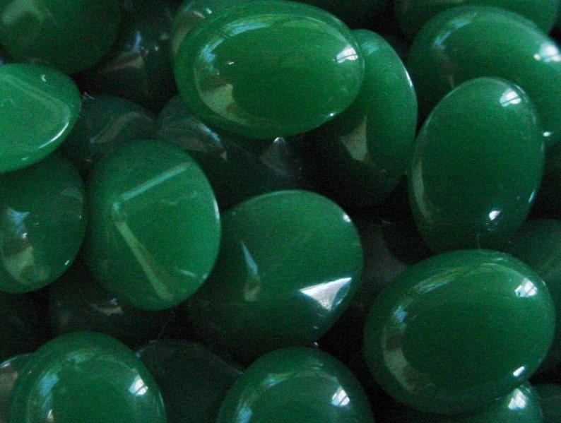 Wholesale 48pc Jade Old Japan 10/8 mm Oval Faceted Pointed image 0
