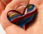 Large Heart, perfect charm, hand made glass