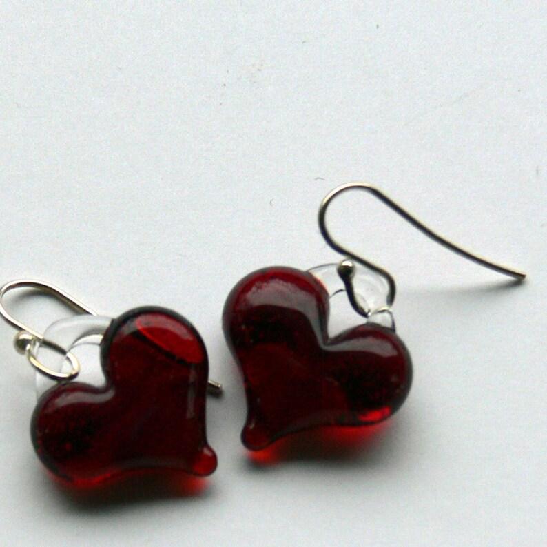 reds heart earrings image 0