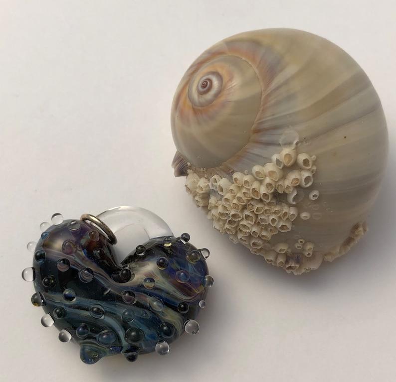 Hearts perfect charms hand made glass borosilicate bead image 0