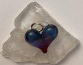 Delicate Purple Heart perfect charm, hand made glass, borosilicate bead