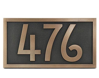 """Stickley Numbers Only Address Plaque 13""""W x 7""""H Rennie Mackintosh Font (More sizes available)"""
