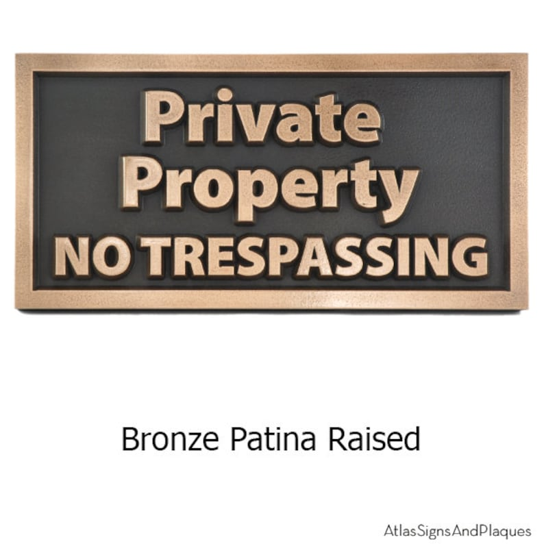 Modern Private Property No Trespassing Sign 12