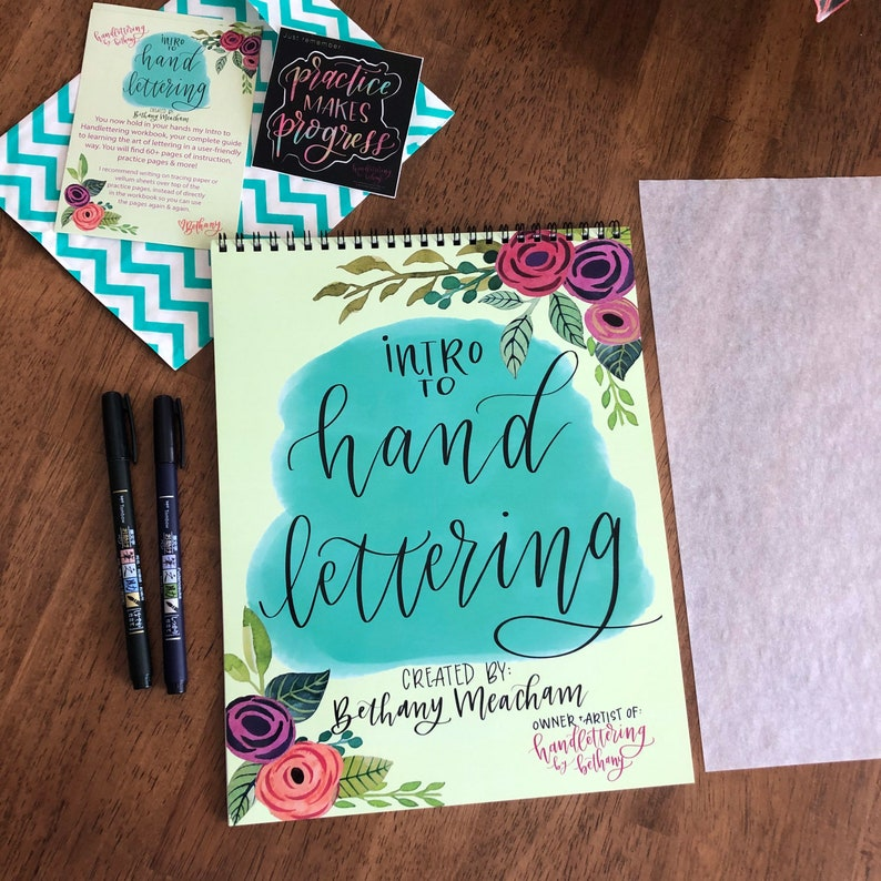 Intro to Handlettering Starter set includes Spiral bound image 0