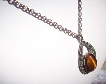 "Tigerseye Stone 19""  Necklace"