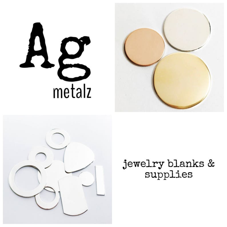 34 inch 18 Gauge Gold Fill Round Circle Discs Jewelry Stamping Supplies 10 pack