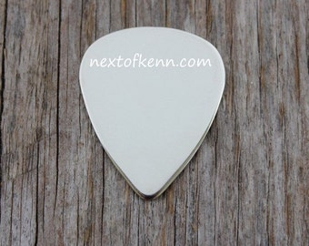 SALE - Guitar Pick - 18 gauge Sterling Silver Stamping Blank for Hand Stamped Jewelry