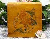 Wood Fairy Box, Hinged Fairy Box, Wooden Square Box, Fairy Treasure Trinket Box, Tooth Fairy, Hand Painted Fairy, Fairytale, Children,