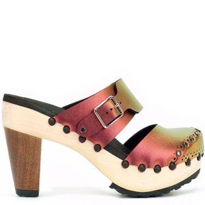 Ruby High Heel Clogs Closed Toe Clogs