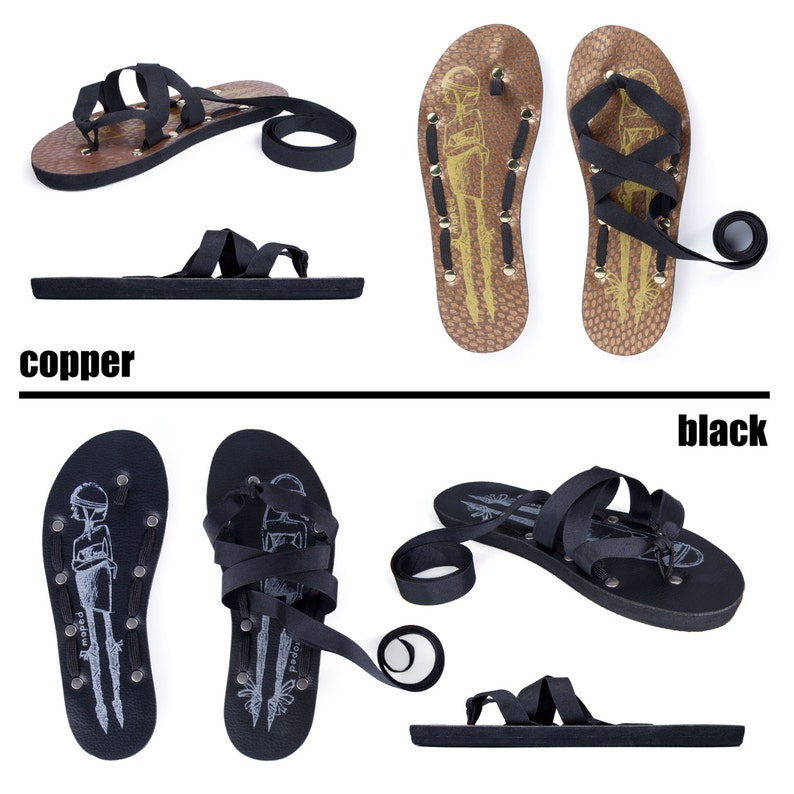 ed8d664fd1c10 Flat Thong Ribbon Sandals by Mohop Handmade Shoes with 5