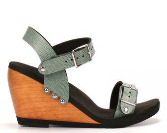 High Ankle Strap Sandal - Made in USA