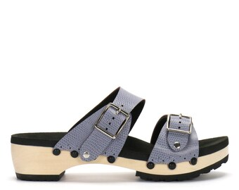 Low Clog Mule Platform Sandal | Comfort Sandal with Arch Support | Vegan | Made in USA