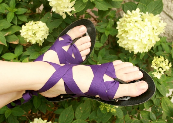 7ff14c68573f Flat Thong Ribbon Sandals by Mohop Handmade Shoes with 5