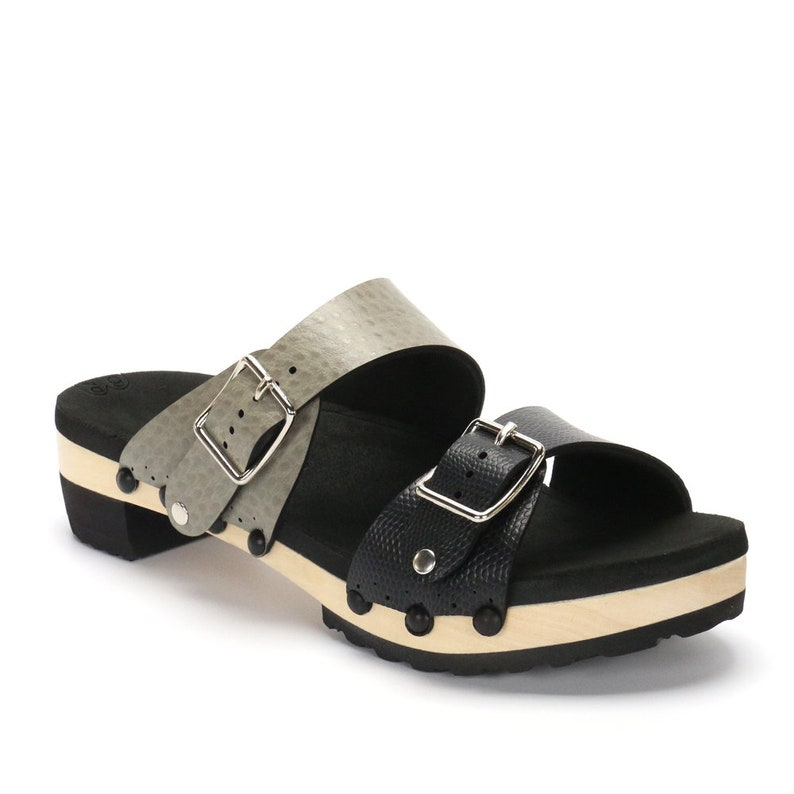 46ea6df9a5a3 Low Heel Mule Platform Sandal Comfort Sandal with Arch