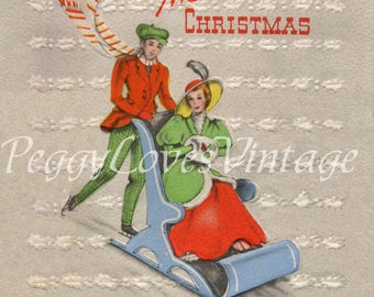 Vintage Christmas Greeting Card Images on CD Vol 14