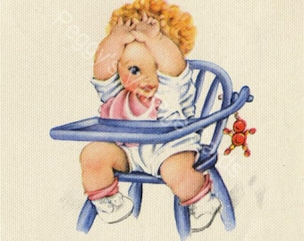 375 Vintage New Baby Greeting Card Images  Vol 1 on CD