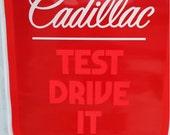 Vintage 1982 Cadillac dealer sign big sign cadillac sign Car guy Cadillac Guys Man Cave Decor