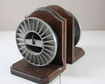 Western Electric Cable Rolls Book Holder Wood and Metal Book Holder Vintage