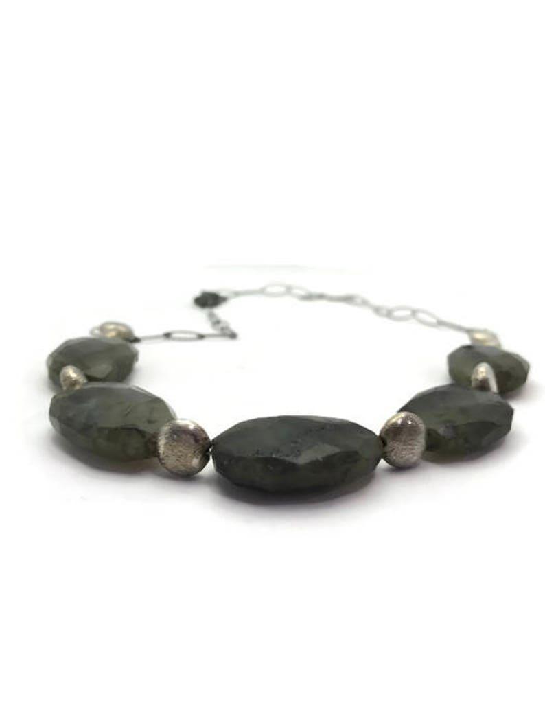 Cut Labradorite Laboradorite Necklace Laboradorite Jewelry Chunky Jewelry Silver Jewelry Silver Necklace Adjustable Necklace Hand Cut