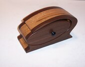 Band saw Box Handcrafted from Walnut and Oak Hardwoods
