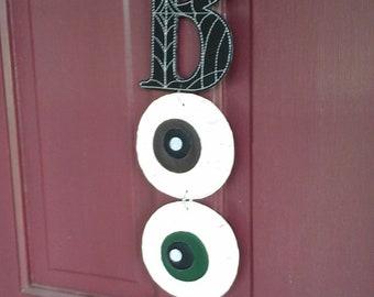 Boo vinyl sign