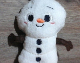 Friendly stuffed snowman