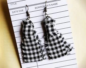 Gingham Earrings
