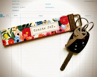 Words Matter Key Fob (wristlet )