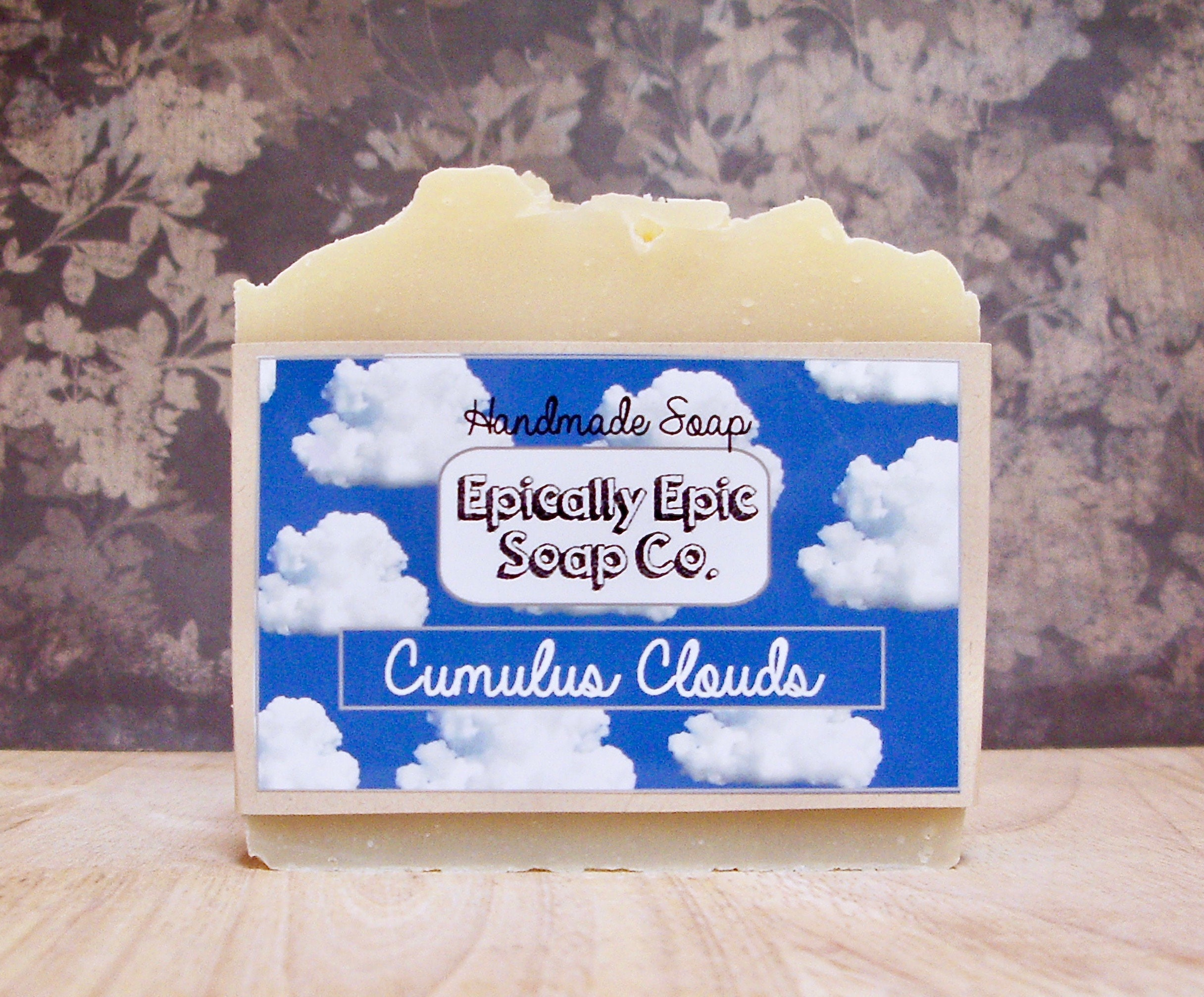 Cumulus,Clouds,Cold,Process,Soap,-,Vegan,Handmade,Bath_And_Beauty,soap,cold_process_soap,handmade_soap,epically_epic_soap,bar_soap,natural_soap,homemade_soap,glycerin_soap,into_the_summer,fresh_scent_soap,vanilla_soap,fresh_air,blue_sky,olive oil,organic palm kernel oil,castor oil,sodium hydroxide,f