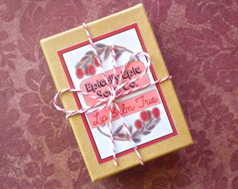 Gift Trio of Epic Lip Balms - Pick 3 Flavors