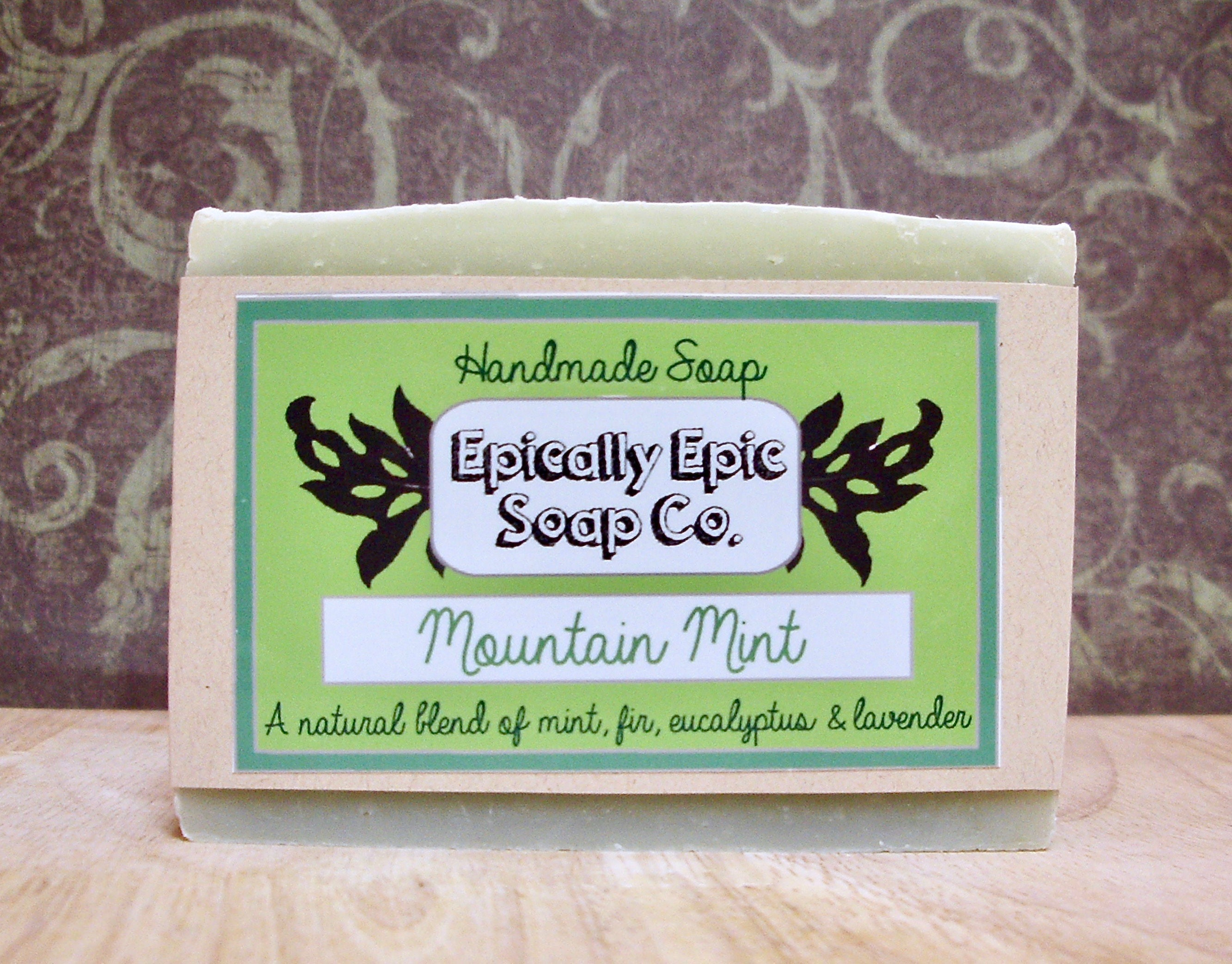 Mountain,Mint,Cold,Process,Soap,-,Vegan,Handmade,Bath_And_Beauty,soap,cold_process_soap,handmade_soap,epically_epic_soap,bar_soap,natural_soap,homemade_soap,glycerin_soap,into_the_summer,naturally_scented,essential_oil_soap,pine_eucalyptus,lavender_mint,olive oil,organic palm kernel oil,castor oil