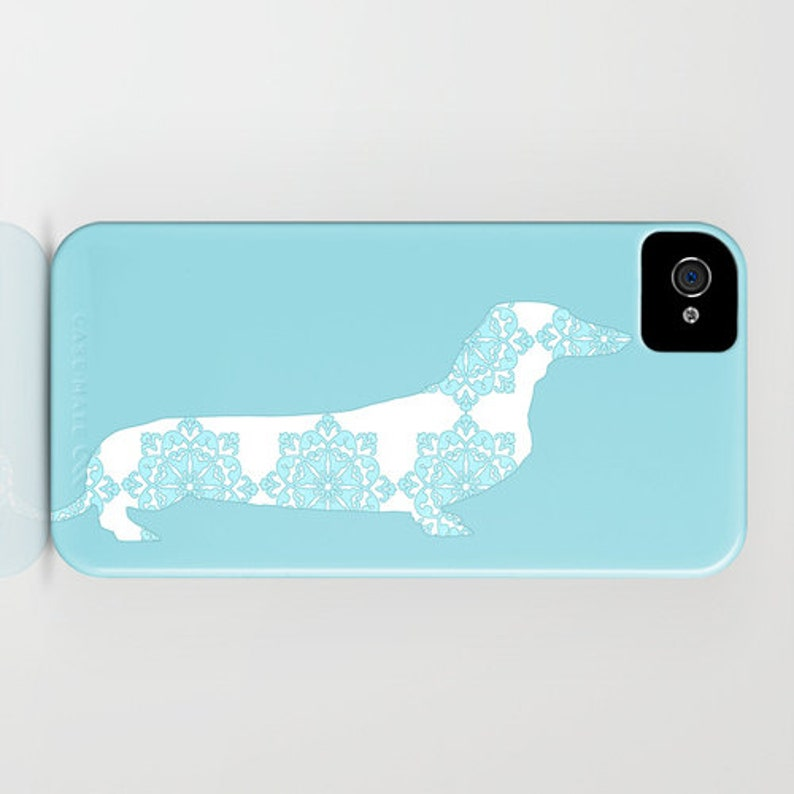 Gift for her Dachshund Gifts Dog Gift Ideas Sausage Dog iPhone 6S iPhone 6 Plus Samsung S9 Dachshund Dog on Phone Case